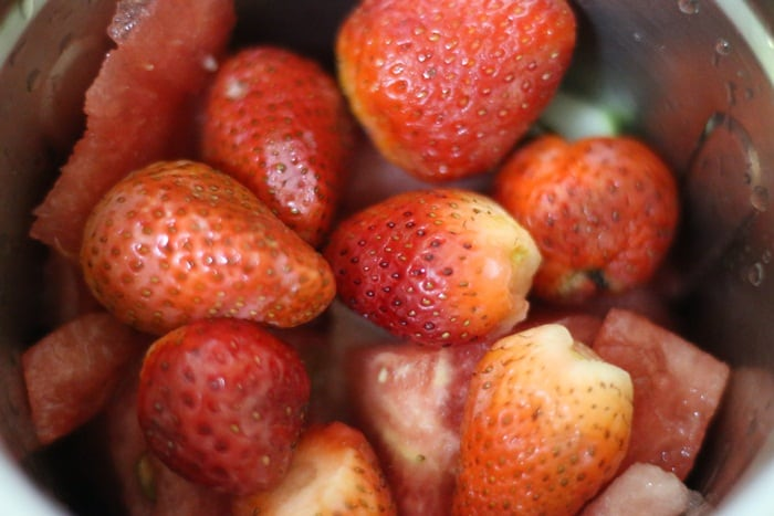 fresh strawberries for smoothie