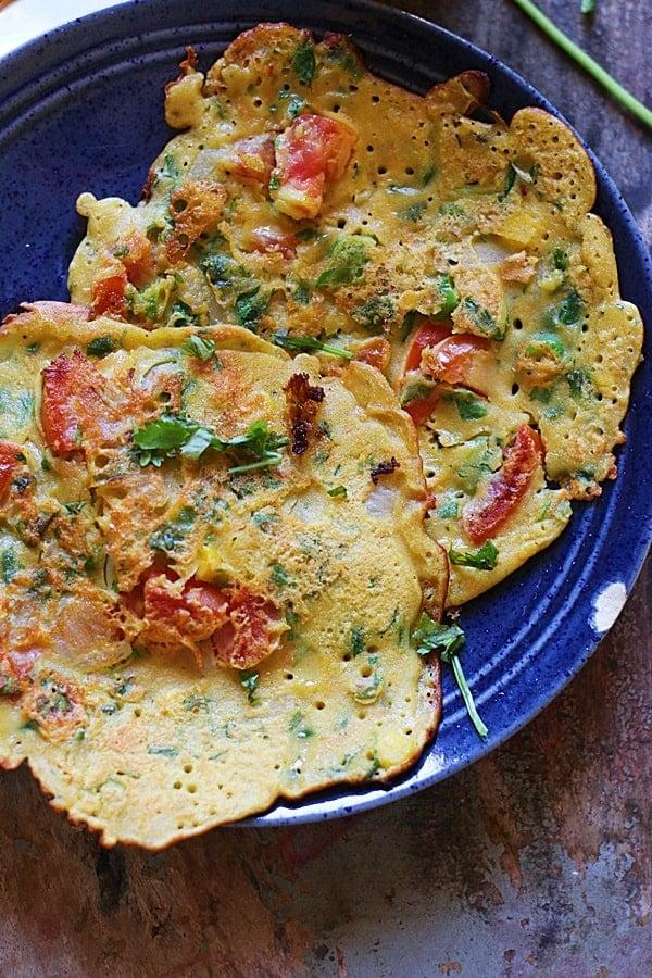 Vegan chickpea omelette recipe