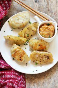 Homemade vegan potstickers