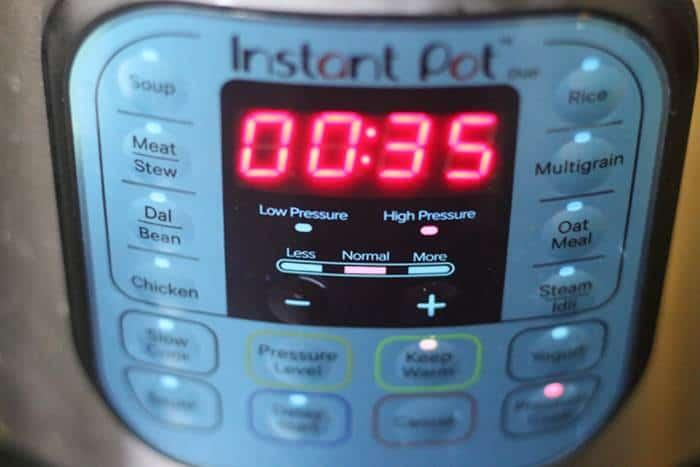 pressure time settings