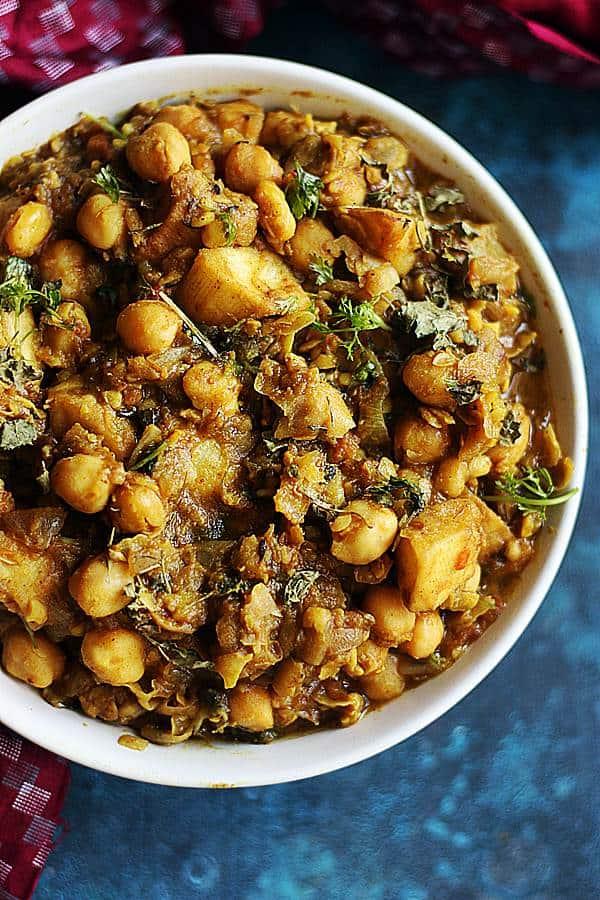 potato chickpea curry