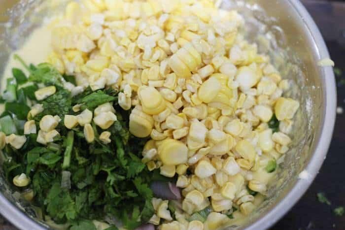 sweet corn kernels added