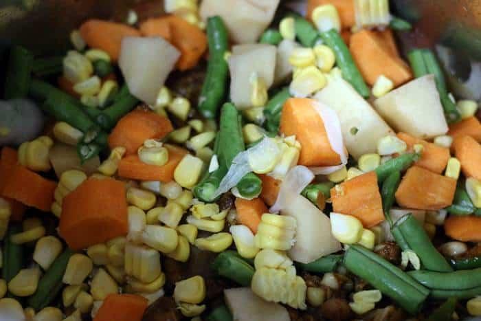 vegetabes added