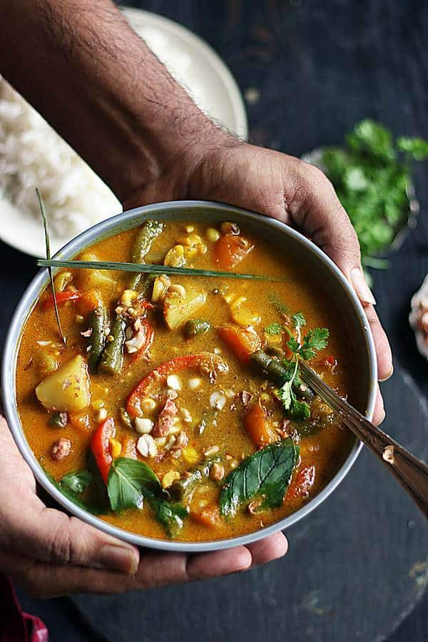 vegan papang cury ready to serve