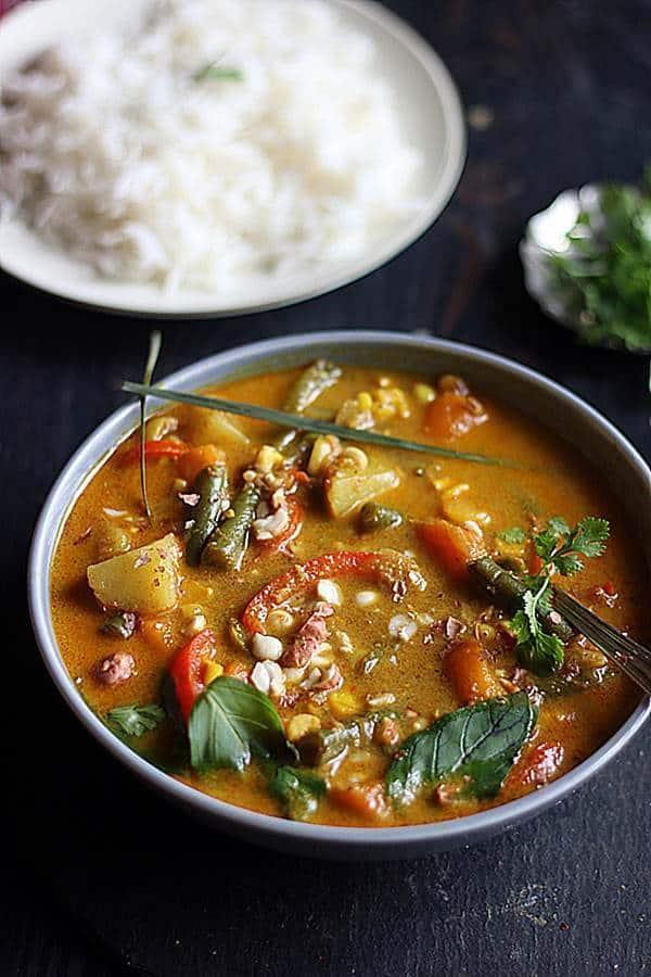Instant pot vegan panang curry