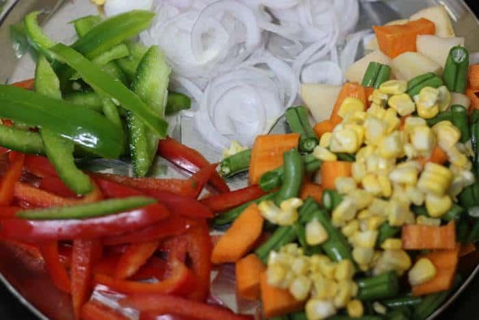 veggies for panang curry