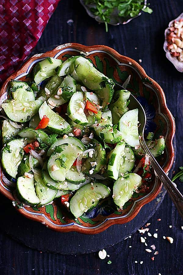 flavorful asian cucumber salad