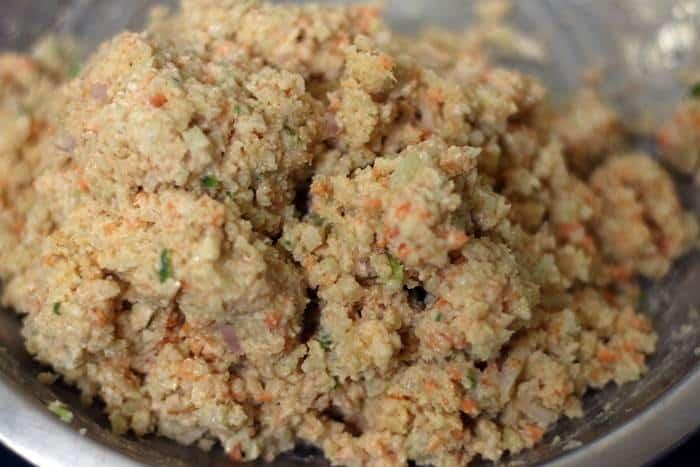 Cauliflower nuggets mixture