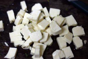 pressed tofu cubes