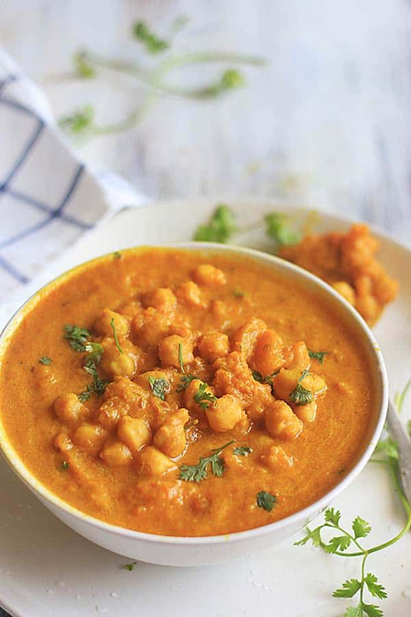 easy Indian style vegan curry with pumpkin