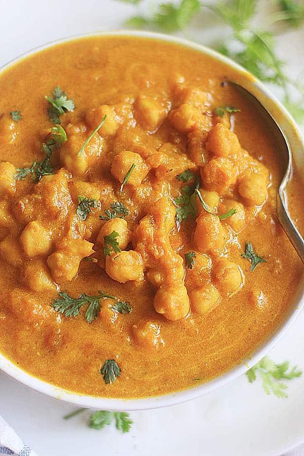 closeup shot of pumpkin curry