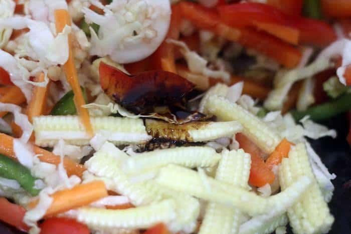 addind sauce ingrediets for sesame noodles