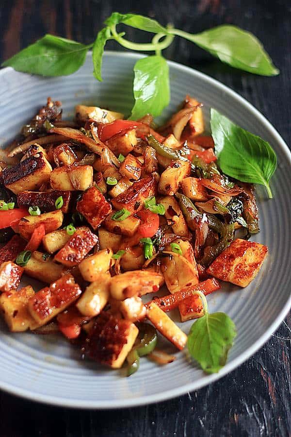 vegan stir fry with tofu