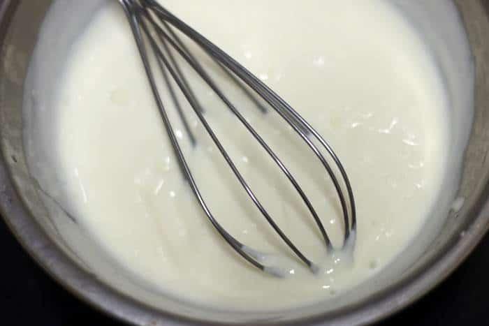 whisked greek yogurt