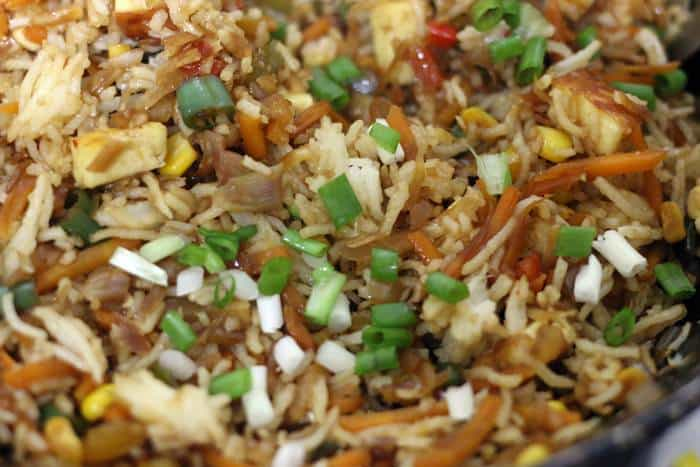 tofu fried rice ready to serve