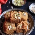 Easy Gujarati mohanthal in silver plate