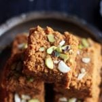 closeup shot of Gujarati mohanthal mithai