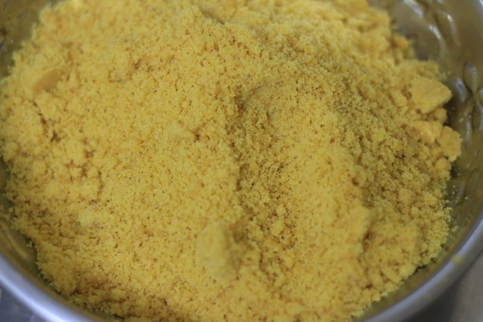 sifted besan mixture