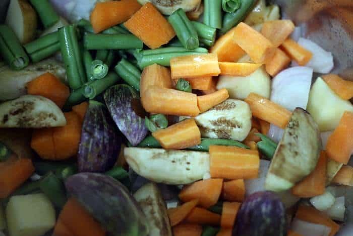 sauteng vegetables in oil
