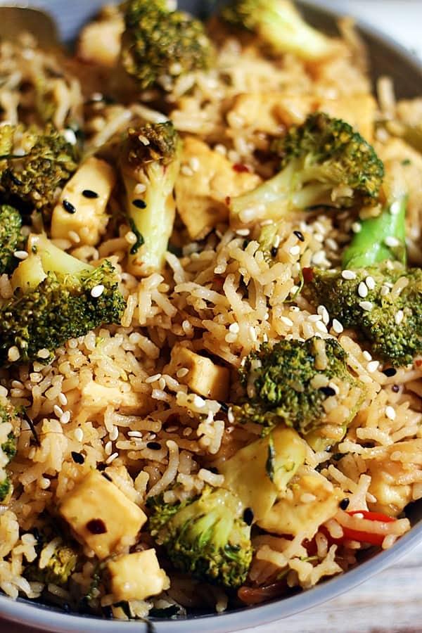 Easy vegan broccoli fried rice