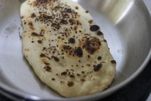 butter applied on kulchas