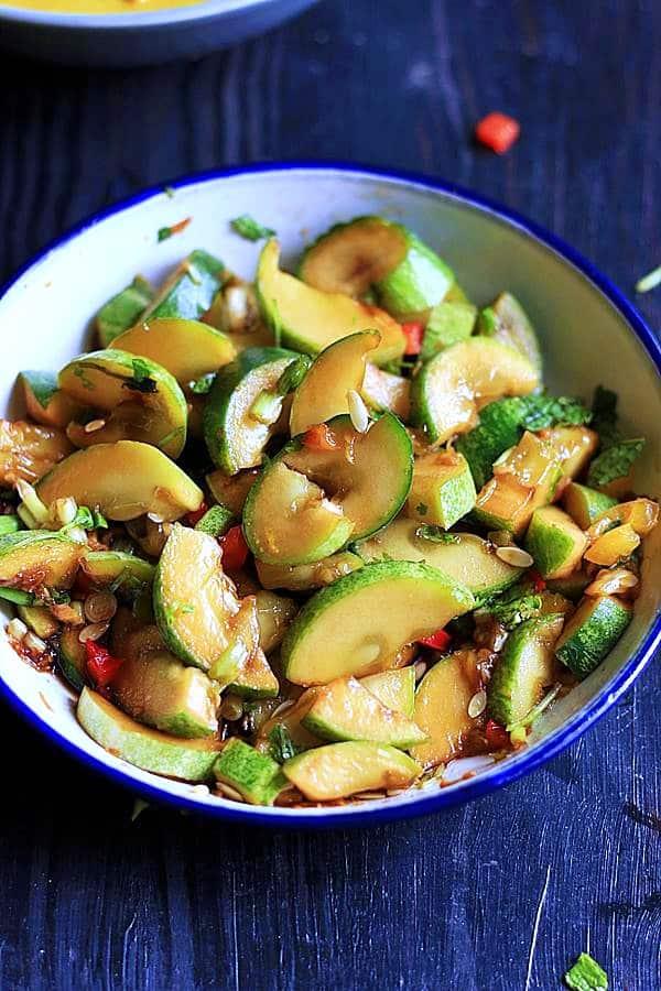 cucumber salad ready to serve