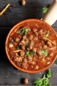 Amritsari chole ready to serve