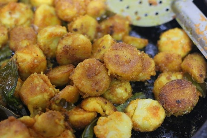 crispy taro fry