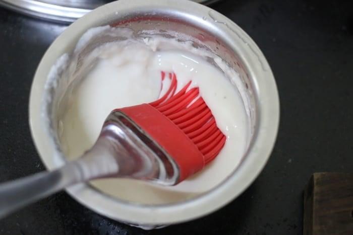 flour paste with plain flour and water