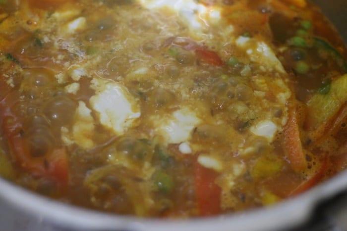 cashew paste added to veg chilli milli recipe