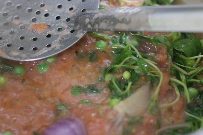 tomato puree added for chilli milli