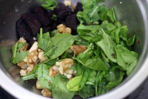 salad ingredients in a salad bowl.