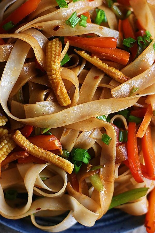 closeup shot of vegan pad kee mao