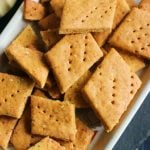 closeup shot of crispy baked besan papdi