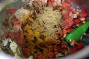 spice powders added for masala khichdi