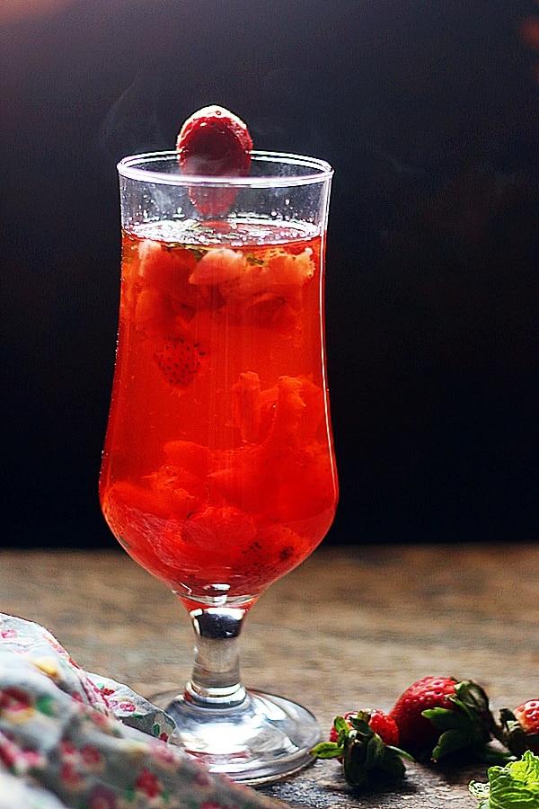 delicious strawberry tea