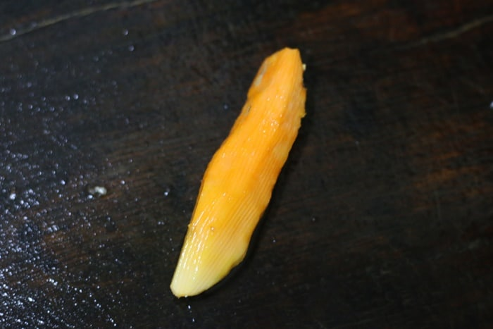 peeled fresh turmeric root