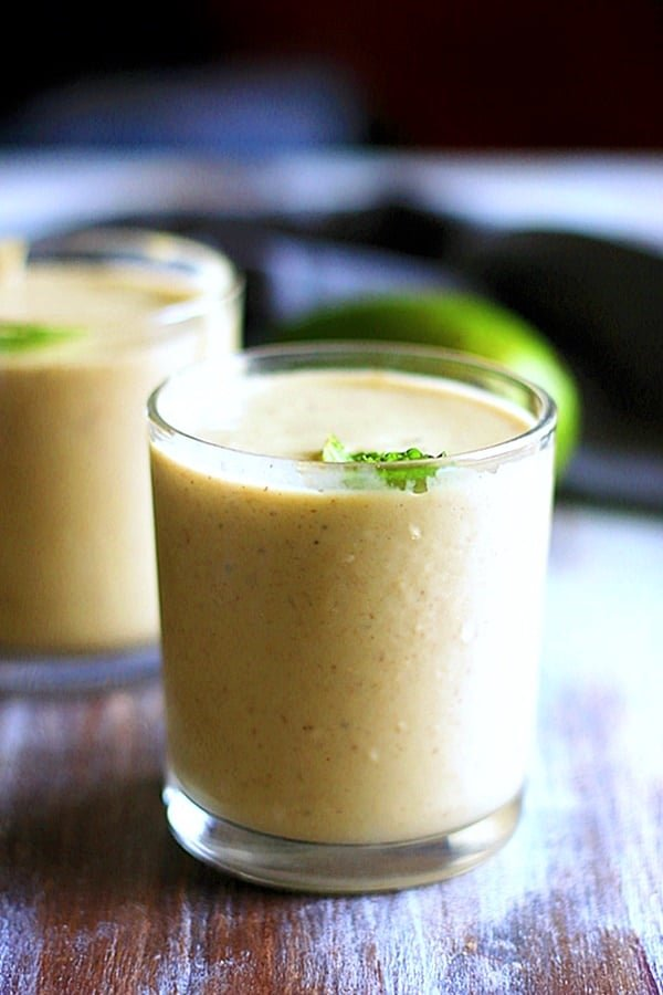 healthy creamy vegan avocado milkshake