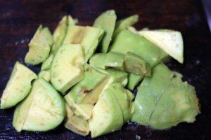 chopped ripe avocado