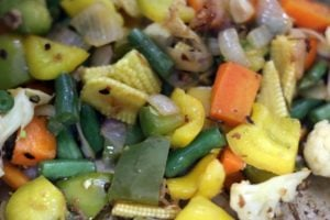 cooked yet crunchy vegetables for sweet and sour vegetables recipe