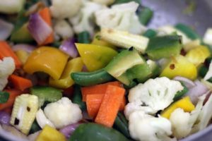 vegetables added for sweet and sour vegetables recipe