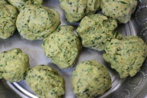 dough balls from thepla dough