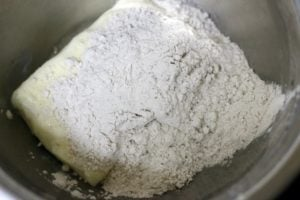 creaming sugar and butter for cookies