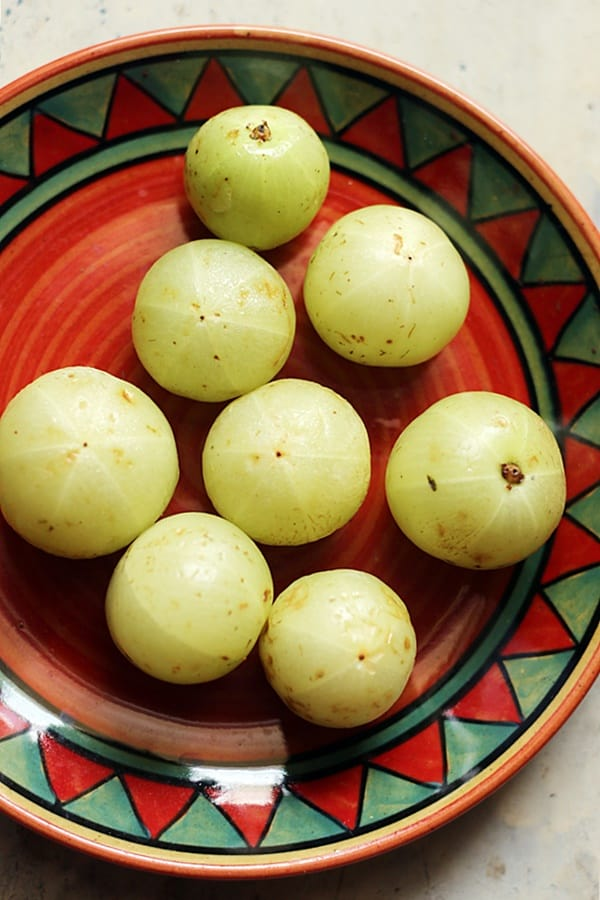 Fresh amla or Indian gooseberries