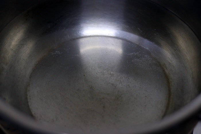 water in a pot