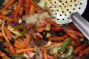 sugar added to stir fry vegetables