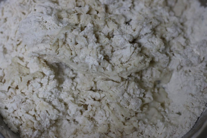 making dough for kulcha